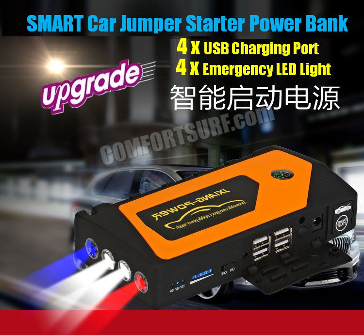 Original JX28 Multifunction All in 1 Car Jumper Starter Power Bank 69800 with 5V 9V 12V 16V 19V Output for Gasoline car, mobile phone & Laptop Charger