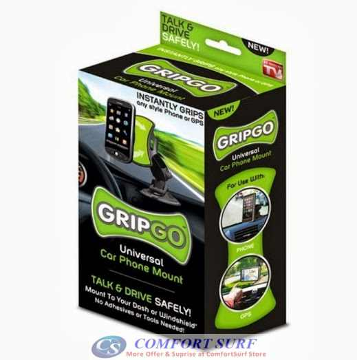 GripGo grip go Universal Car phone holder mount 360 Degree anti-skiddi