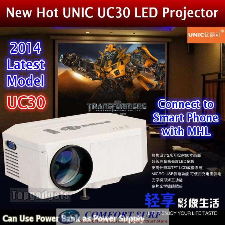 100% Original UNIC UC30 LED Projector (Authorize Reseller)