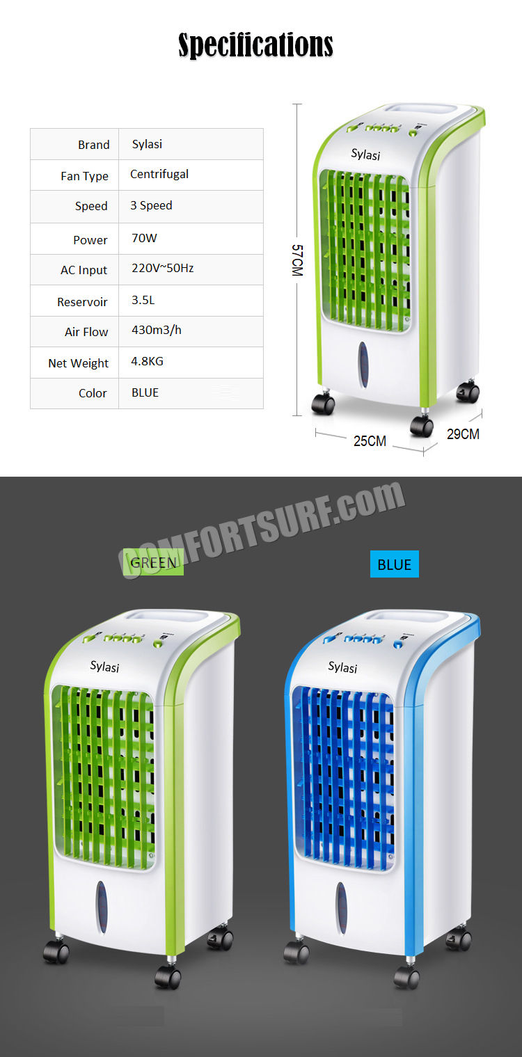 Mini Portable Mobile Home Office Indoor Swamp Air Cooler