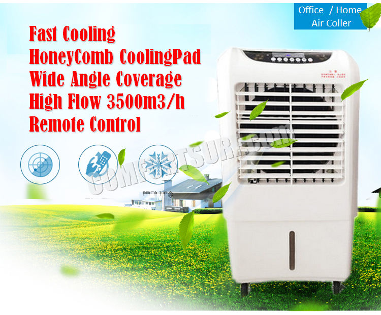 MaxCool Portable Evaporative Swamp Air Cooler Honeycomb Double Stage Ionizer Cooling Fan Indoor / Outdoor Home