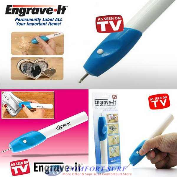 Engrave IT Electric Engraving Pen Carving and Labelling on Any Surface / Phone / Notebook / Survenir
