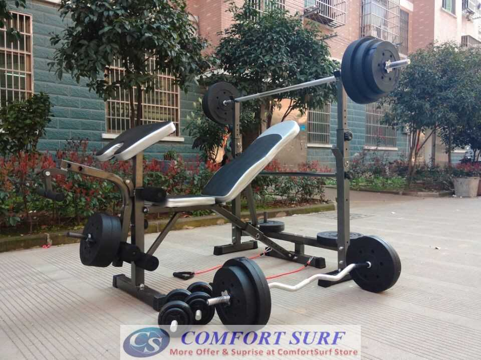 NEW MODEL 2 in 1 Professional Weight Lifting Squat Rack With