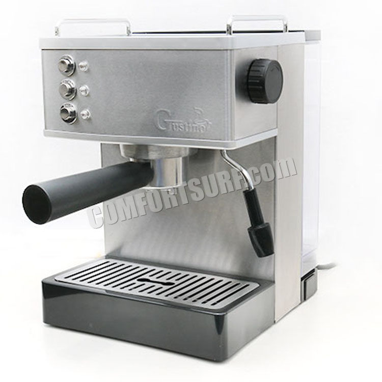 Italian Coffee Maker Stainless Steel : 19Bar Gustino GS690 Quality Stainless Steel Espresso Italian Coffee Maker Machine + FREE GIFT
