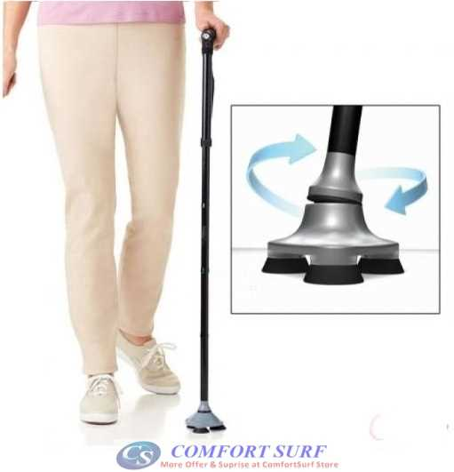 Foldable Ultimate Mafic Cane adjustable heights with build in LED.