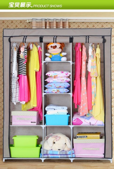 Multifunctional Wardrobe Large Size Hanging Cloth