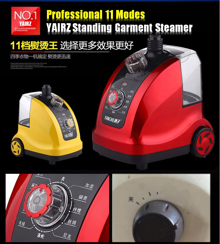 YAIRZ Professional Multifunction 11 Modes Temperature Control Standing Hanging Garment Tobi Steamer 1800W 1.6L!