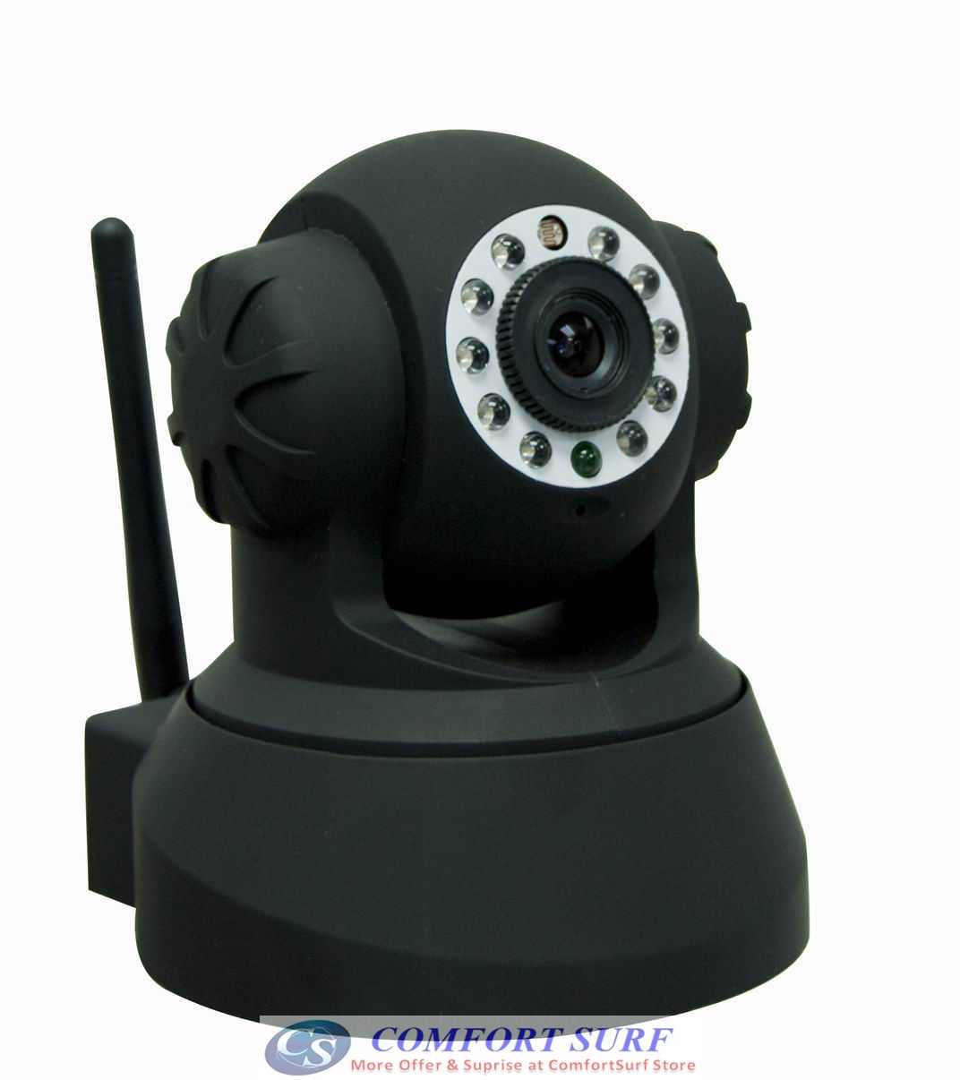 Bossan Wireless / Wired CCTV IP Camera, Pan tilt 335 IR Night Vision - Remote Monitoring Via smartphone