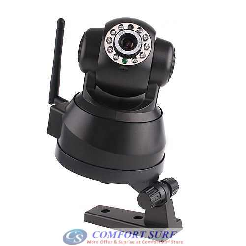 Bossan P2P Wireless / Wired CCTV IP Camera, Pan tilt 355 IR Night Vision / MicroSD / Remote Monitoring Via smartphone