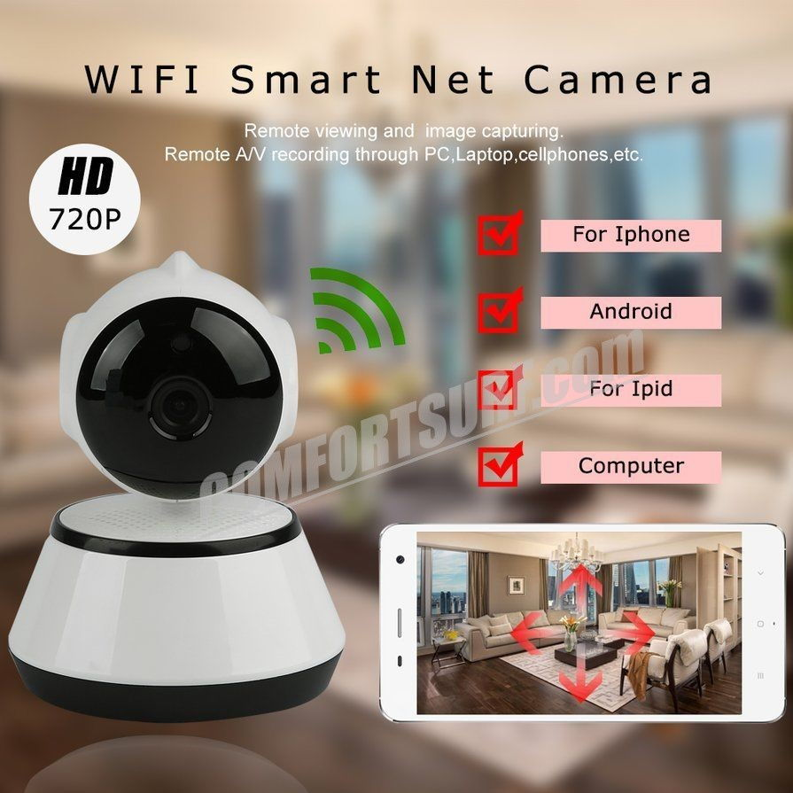 V380 Mini WiFi Wireless CCTV Home Security HD 720P IP Camera Security Camera P2P Night Vision IR Surveillance Camera V380