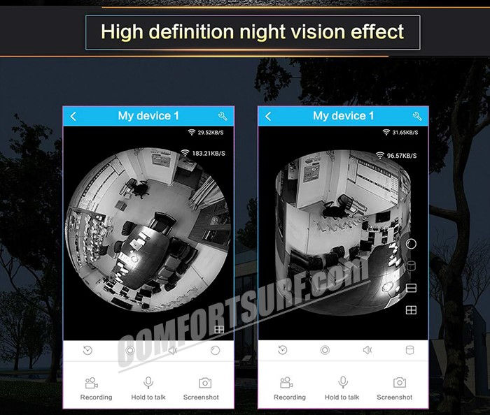 1.3MP 960P HD Panorama 360° Fisheye P2P Wifi Wireless IP CCTV Camera VR Cam IR Night Vision