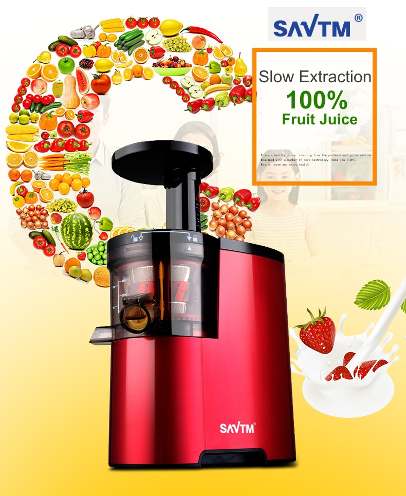 SAVTM JE-07 Slow Juicer 100% Fresh Fruit Juice Extraction Blender Maker