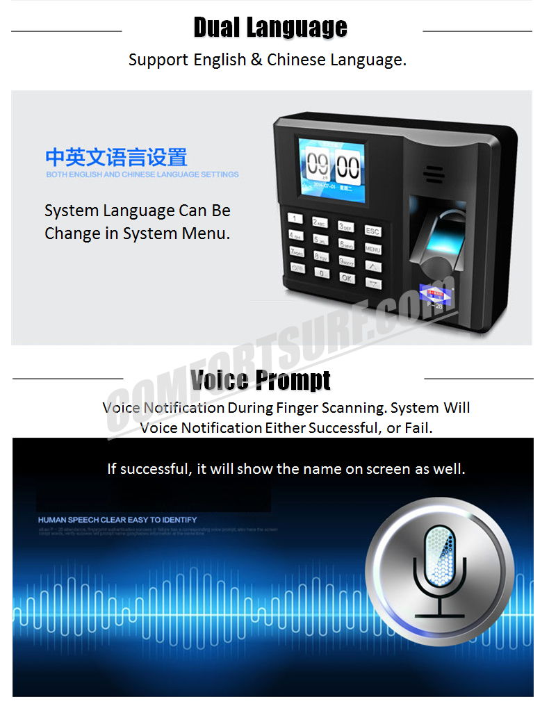 ORIGINAL AIBAO P-28 Quality Biometric Fingerprint Time Attendance System Device