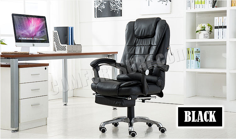 Big Boss C988 Adjustable Seat Height Ergonomic Office Home Computer PU Leather Comfort Chair With Massage Function Kerusi Pejabat