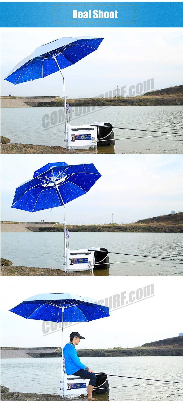 CP016 Mikanuo 2.0M / 2.2m Foldable Outdoor Canopy 360 Rotating Sunshade Fishing Umbrella Tent Anti-UV Sunscreen Umbrellas