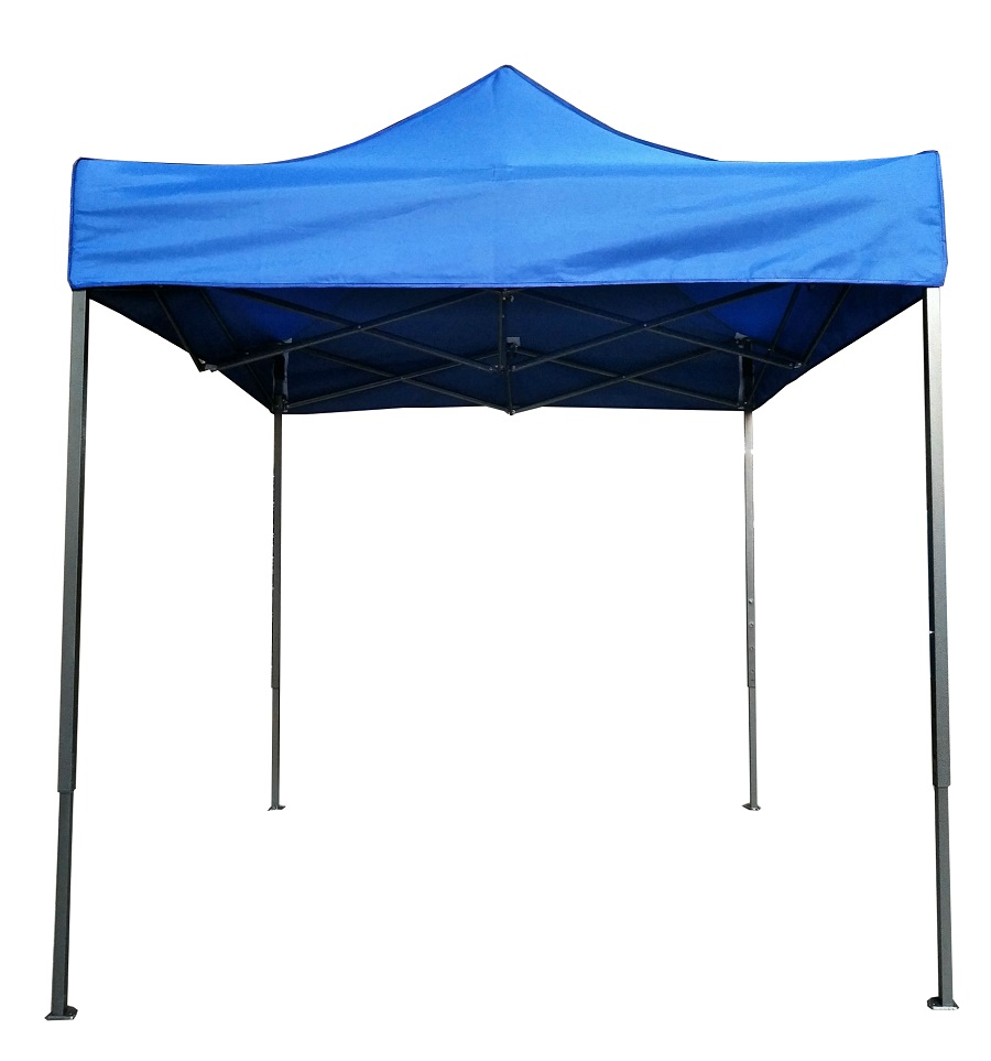 CP018 Grade A Foldable Black Coated Steel Frame Canopy Tent for Event Khemah Kanopi Red and Blue 2mx2m, 2.5mx2.5m, 3mx3m