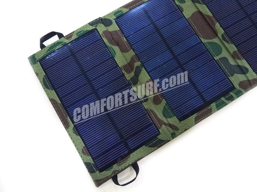 7W Folding Solar Panel 5V USB Travel Camping Portable Battery Charger For Phone!