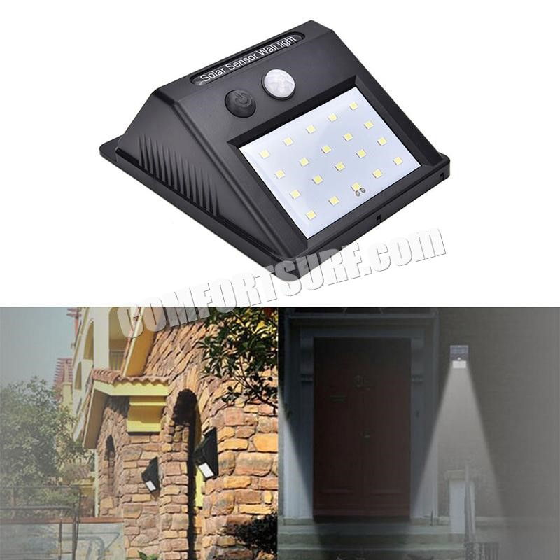 MaxSolar SL027 x20 LED Waterproof Wireless Security PIR Motion Sensor Solar Power Wall Light Outdoor Garden Lamp