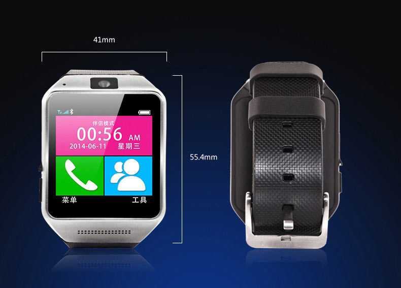 Latest GV08 Real TouchScreen Smart Watch Mobile Phone (Support Sim Card + Expandable Memory + Camera + Bluetooth) 1.54 inch Touch screen Smart watch For ANDROID iPhone