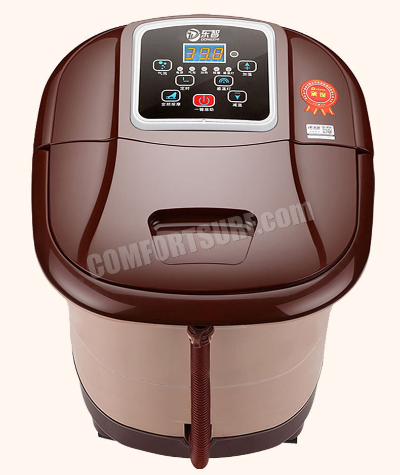 Multifunction Portable Auto Foot Spa Bath Massager Taiji + Roller Style Bubble Heat LED Display Vibration Infrared Relax With Remote Control