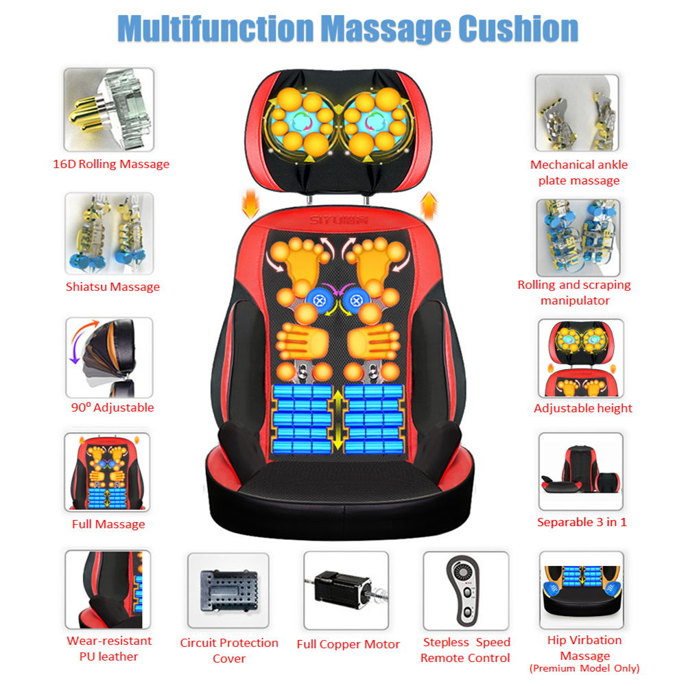 Multifunction SIYU SY800B Cervical Spine massage pillow neck waist back home body massage cushion - Seperable Design