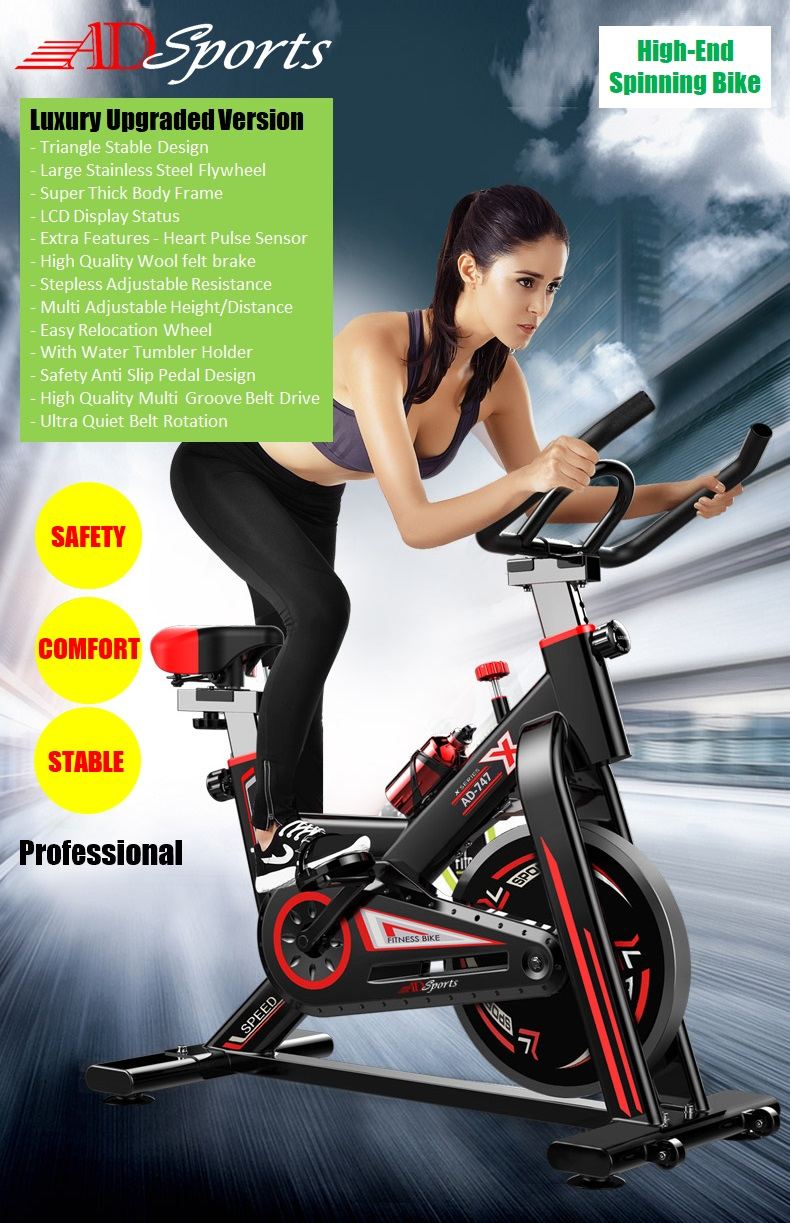 AD Sports AD-747 Luxury Top Home Gym / Fitness Quality Swing Spinning Exercise Bike / Cycling Bike Equipment