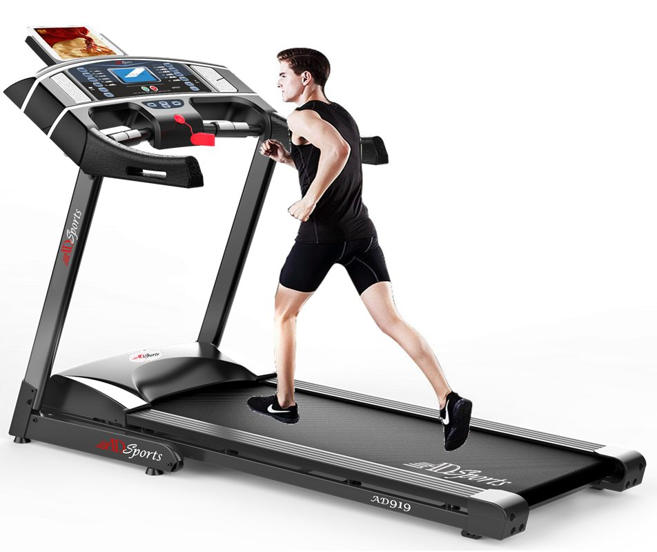 4.0HP ADSports AD919 Motorize Electric Treadmill 61CM Wide Running Platform With Auto Refueling System & 8x Rubber Absorption Damping System
