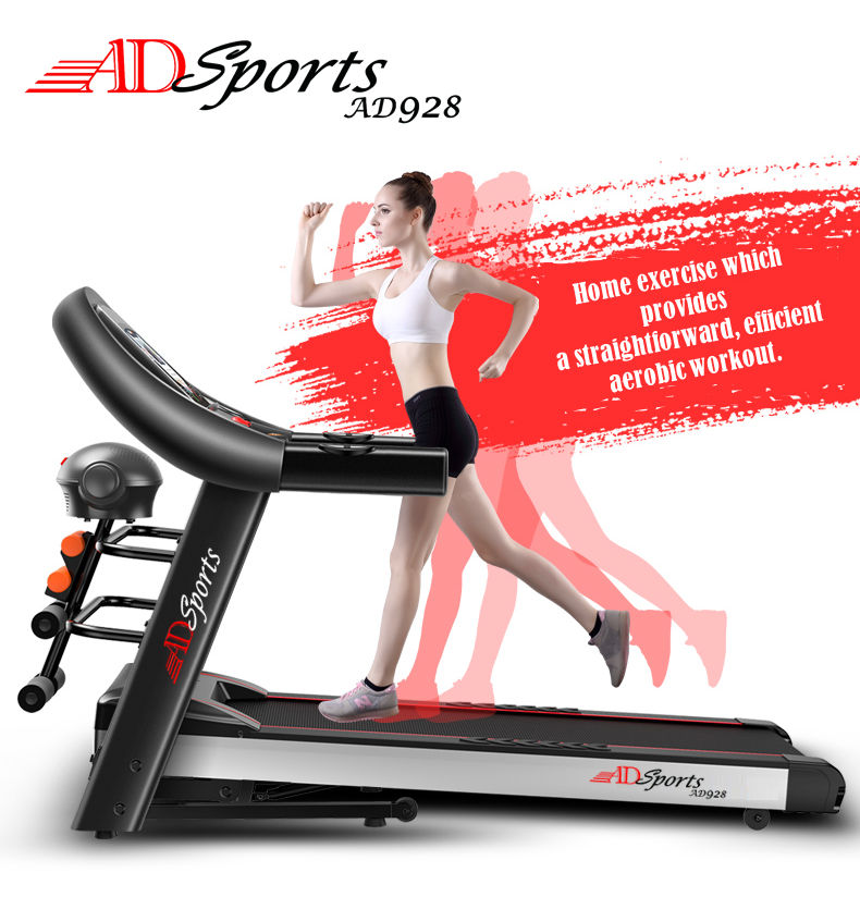4.0HP ADSports AD928 Motorize Electric Treadmill Manual/Auto Electric Incline Decline 59CM Wide Running Platform With Auto Refueling System & 4 Ways Spring Shock Absorption Damping System