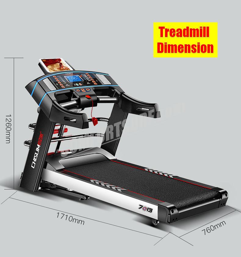 Treadmill Belt Moving Slow: 4.0HP Chislim 7013 Electric Auto Incline Treadmill 62CM