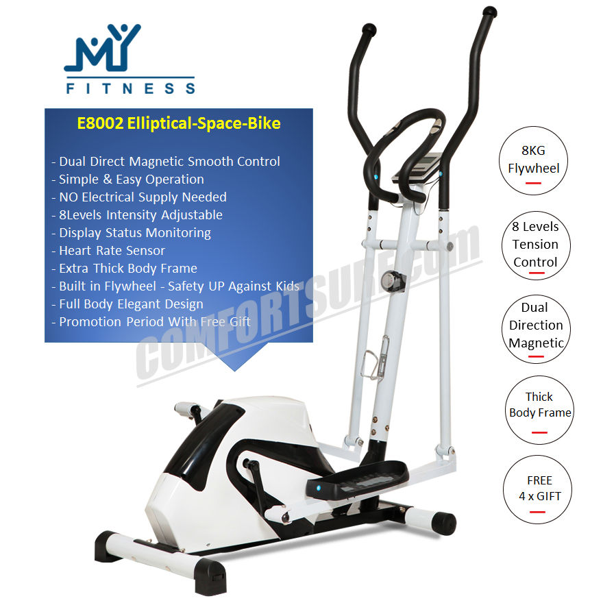 Multifunctional Magnectic Elliptical Cross Trainer Twister Cardio Exercise Bike Home Fitness Equipment Stepper Space Walk Body Workout