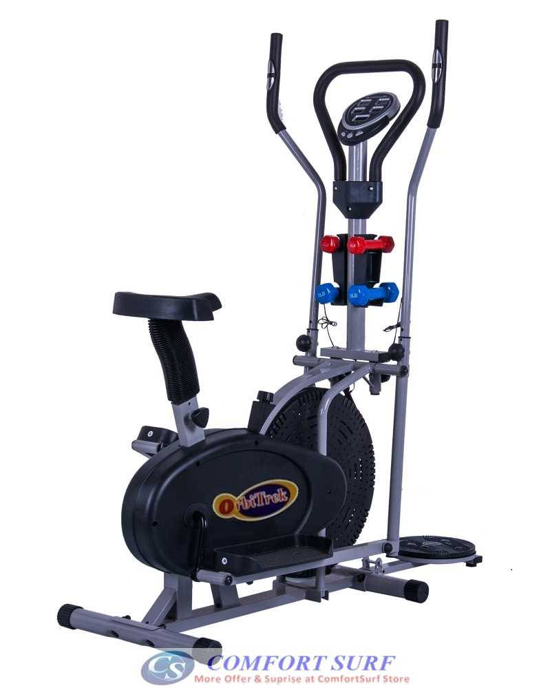 Multifunctional Orbitreck Air Elliptical Cross Trainer Twister Cardio & Fitness Body Workout With Twister / Fitness Dumbbells / Seat / LCD Display