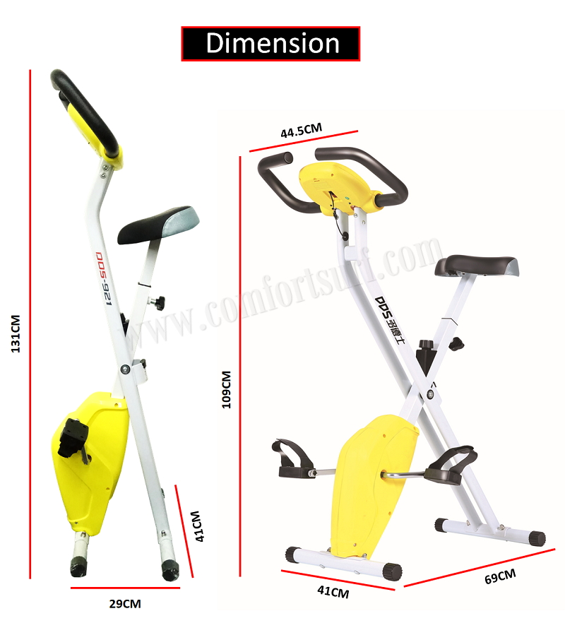 ADSport DDS921 Gym Fitness Exercise X Bike Foldable Sport Equipment Belt Exercise Bicycle Cycle Bike