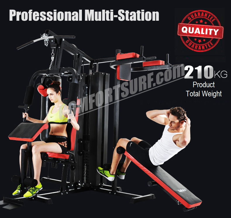 F28 Solid 210KG Gym Fitness 3 Stack Multi Station