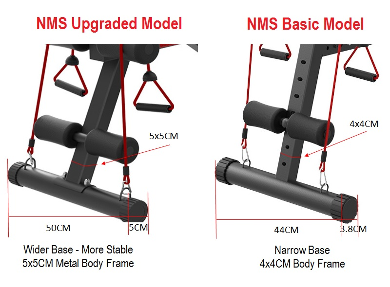 NMS Nomis Upgraded Version Gym Fitness Sit Up Dumbbell Weight Lifting 6 Pack Workout Bench Chair (FREE 3 GIFT)