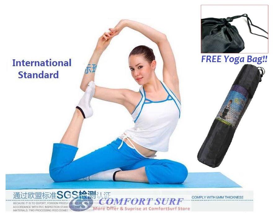 High Quality Non Slip Yoga Mat for Aerobic GYM Fitness Yoga Exercise 173cm